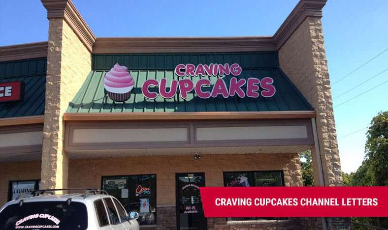 Business Storefront Signs - Craving Cupcakes Lanoka Harbor NJ