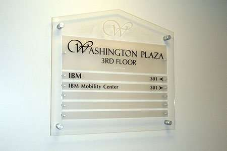 Acrylic Directory Sign