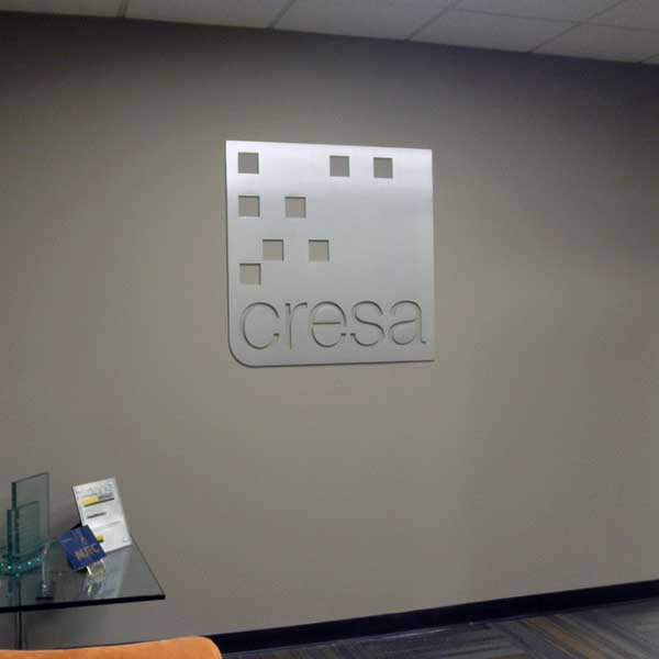 Metal Dimensional Reception Area Signs New Jersey